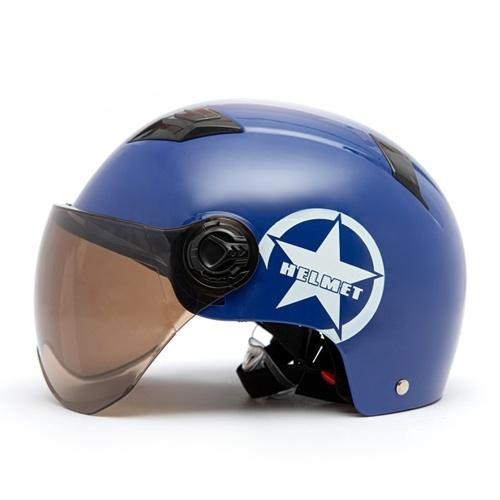 Motorcycle Helmet Half Open Face Adjustable Size Protection Gear Head Helmets