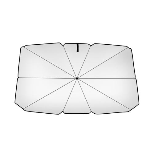 Coche Vehículo Sombrilla Exterior Automático tipo paraguas Sombrilla a prueba de sol Plegable Cubierta de coche de verano Accesorio de coche