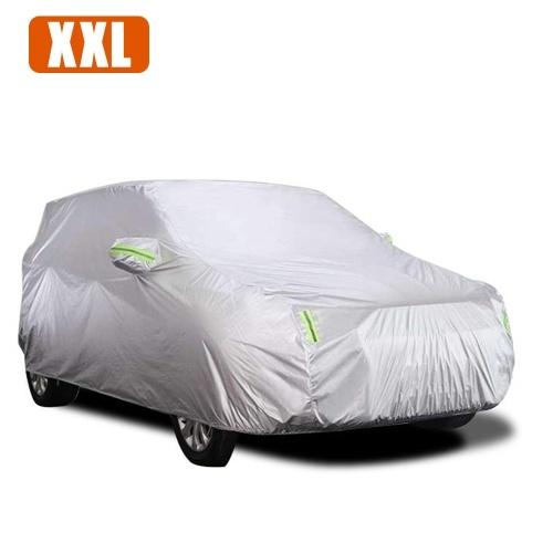Cubierta del coche Cubiertas de sedán completas con tira reflectante Protección de protección solar A prueba de polvo Impermeable UV Resistente a rayones Universal XXL