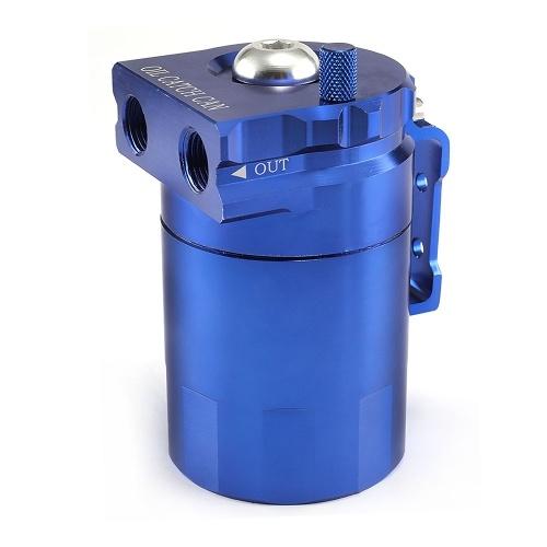 Depósito de latas de captura de aceite con filtro de depósito de depósito de ventilación Deflector de aluminio Universal OCC025