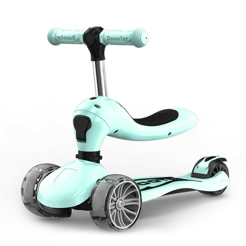 Children's Scooter With Four Wheel Sitting 1-2-6-8 Years Old Two In One Scooter Baby Scooter Foldable Scooter Colorful Scooter