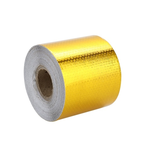 Reflect Light Fire-retardant Fiberglass Belt Automobile Motorcycle Refit Thermal Insulation Band Exhaust Heat Roll Wear-Resistant Heat Shield Tape