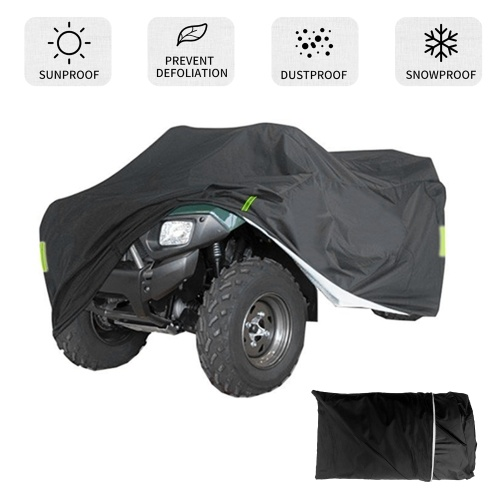 Universal Heavy Duty ATV ATC Cover 190T  Rain Waterproof Dustproof Anti-UV Ripstop Beach Vehicle Outdoor Protector with Night Reflective Strip