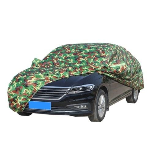 Автомобильный чехол Всепогодная защита Полные чехлы со светоотражающей полосой Камуфляжный стиль Авто чехол Защита от солнца