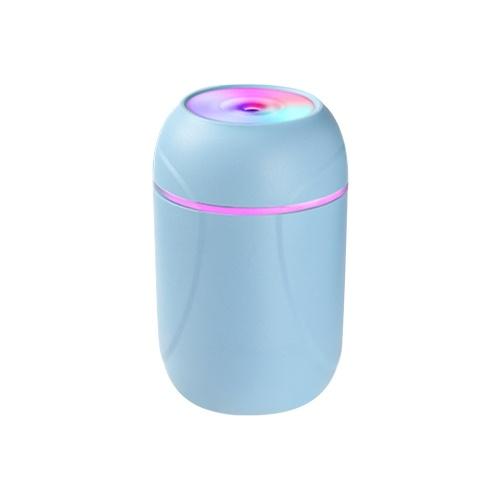 Mini humidificador de aire de 260 ML, luz de noche colorida, difusor de aceite esencial portátil de escritorio, fabricante de niebla para coche, hogar, oficina, uso, dormitorio