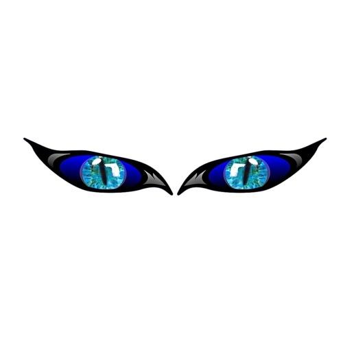 2PCS Pegatinas de coche Evil Eye Zombie Style Calcomanía impermeable a prueba de sol para espejo retrovisor 5 * 2in