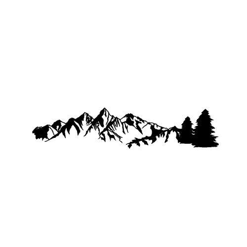 1 Pcs  Universal Car Sticker Reflective Trees Mountain Forest Graphic Stickers for Camper RV Trailer Door Panel Decal Body Window Bumper