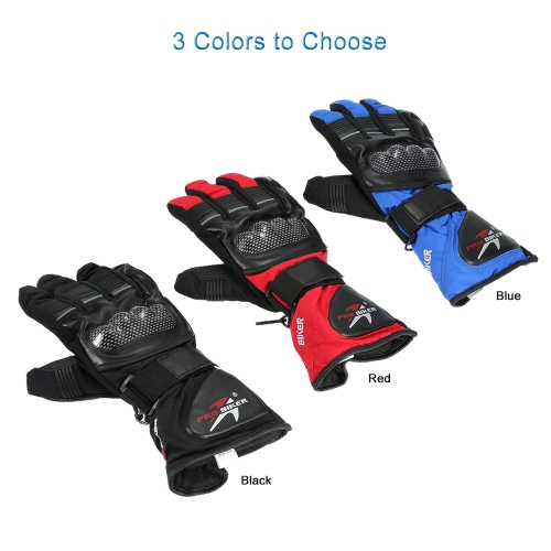 Pro-biker Breathable Full Finger Motorcycle Cycling Racing Riding Skiing Protective Gloves Built-in Lining Water Resistant Windpro