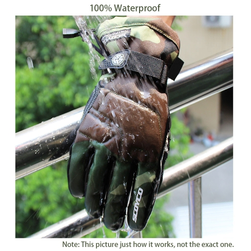 Scoyco Camouflage Color Waterproof Windproof Keep Warm Gloves Breathable Full Finger Motorcycle Cycling Racing Riding Skiing Prote
