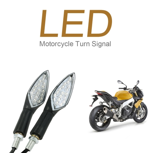 2Pcs 12V 1W LED Turn Signal Indicator Lights with 18 Bulbs for Motorcycle