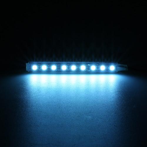 2 en 1 LED de la atmósfera del interior de la barra ligera auto del coche de la decoración romántica de la lámpara 12V Kit