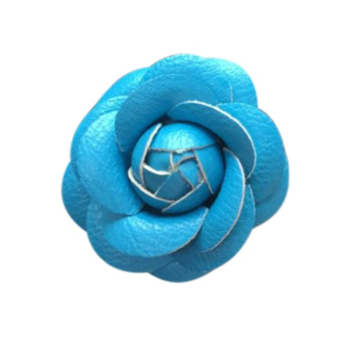 Car Use Parfum Seat Car Ornaments avec Crystal Creative Charm Belle Camellia Flower Car Accessories Bleu