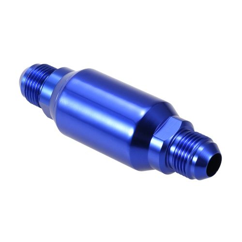 AN8 100 Micron Aluminum Inline Fuel Filter/ Petrol Universal Fit