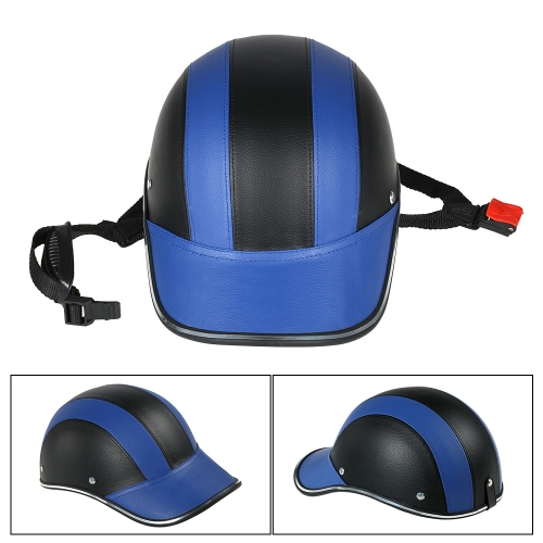Motorcycle Helmet Half Face Baseball Cap Style with Sun Visor