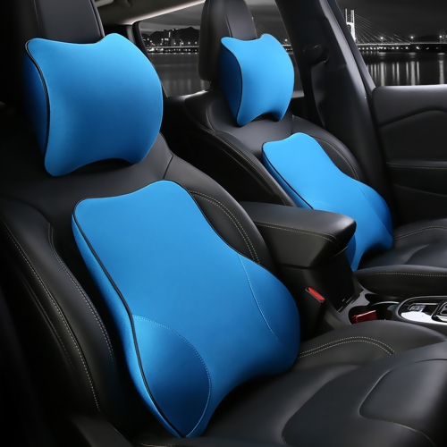 High Quality Car Seat Headrest Lumbar Cushion Kit Neck Support Memory Foam Back Brace Pillow Supports Ergonomics Auto Accessories Waist Pillows
