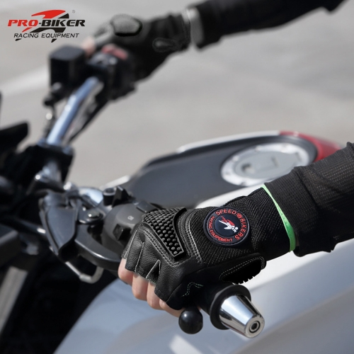 Sports Racing Cycling Motorcycle MTB Bike Bicycle Gel Half Finger Gloves   M/L/XL K6471R-M