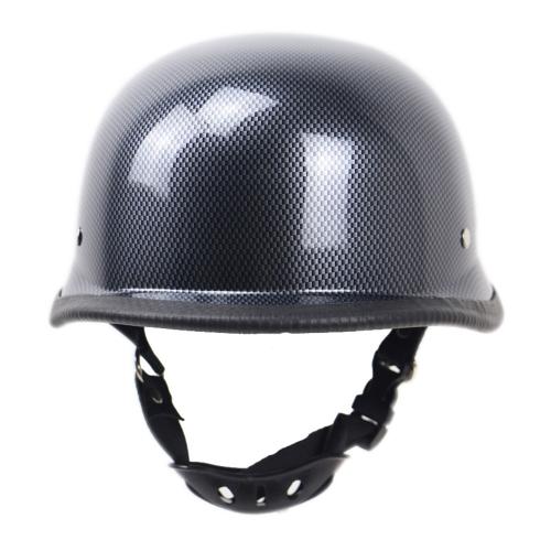 Мотоцикл матовый черный немецкий полумалый шлем измельчитель Cruiser Biker M / L / XL