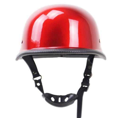 Motorcycle Matte Black German Half Face Helmet Chopper Cruiser Biker M/L/XL