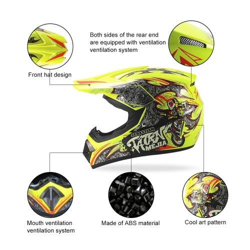 Off Road Casco Motorcycle & Moto Dirt Bike Motocross Racing Helmet K6478Y-L