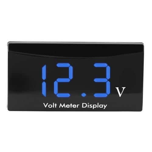 12V Digital LED Display Panel Meter Voltmeter Car Motorcycle Voltage Volt Gauge Panel Meter for Vehicle
