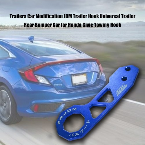 Trailers Car Modification JDM Trailer Hook Universal Trailer Rear Bumper Car