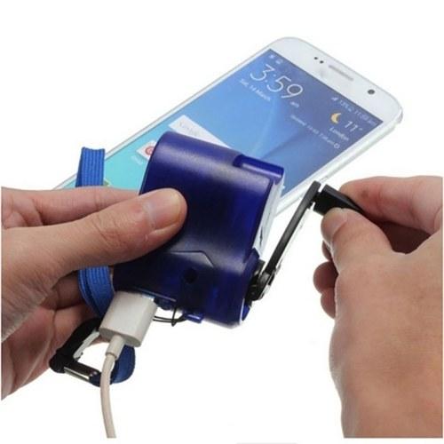 Portátil Mini Telefone USB Carregador de Emergência para Camping Caminhadas Ao Ar Livre Carregador de Viagem de Manivela para Smartphone Ferramentas de Sobrevivência