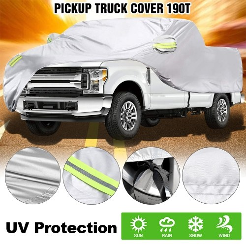 Truck Cover, All Season Car Cover for Pickup Truck, Against Dust, Debris, Windproof UV Protection 170T