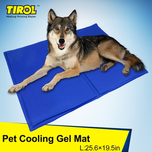 TIROL Pet Cooling Gel Mat Cool Beds Dog Cat Summer Pad Bed (26