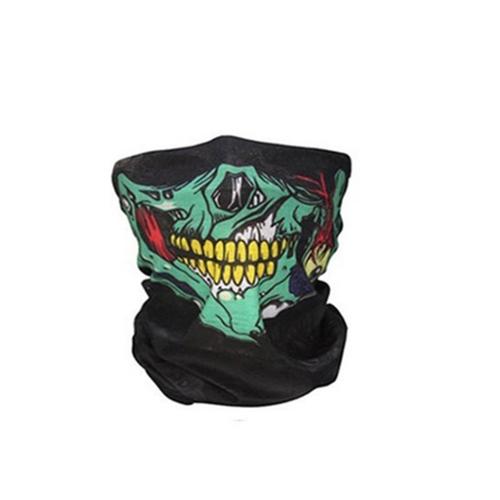 Unseamed Multifunctional Headband Skull Bandana Helmet Neck Face Mask Thermal Scarf Halloween Props