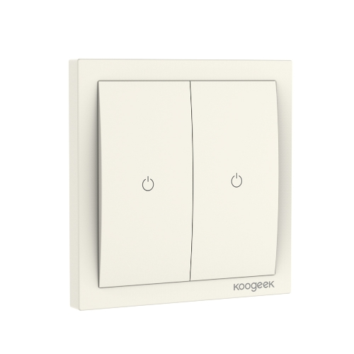 Koogeek Two Gang Wi-Fi ativado interruptor de luz inteligente
