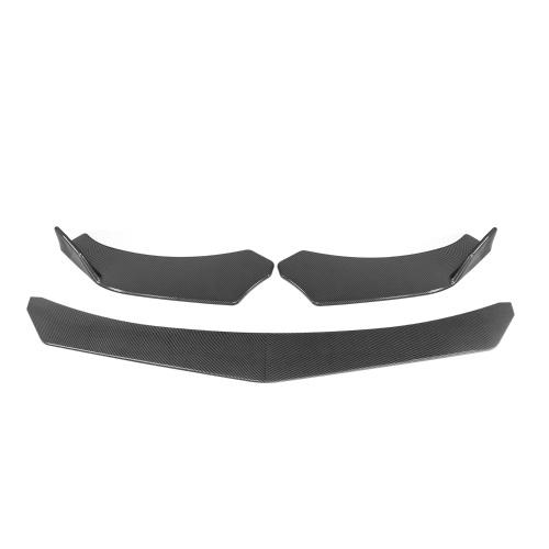 Kit de carrocería de labios de parachoques delantero de coche de 4 piezas, divisor de alerón de mentón de parachoques ABS Universal