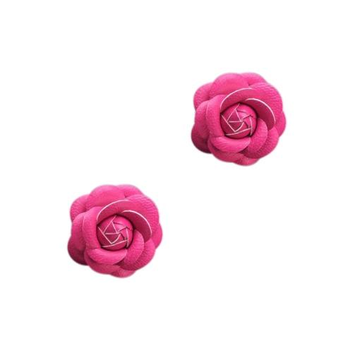Car Use Perfume Seat Car Ornaments with Crystal Creative Charm Beautiful Camellia Flower Car Accessories Blue