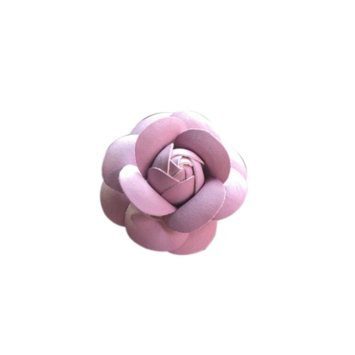 Car Use Perfume Seat Car Ornaments with Crystal Creative Charm Beautiful Camellia Flower Car Accessories Taro Purple