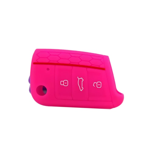 New High Quality Honeycomb Red-line Car Environmental Silicone Key Fob Protector Cover Case for VW Golf7