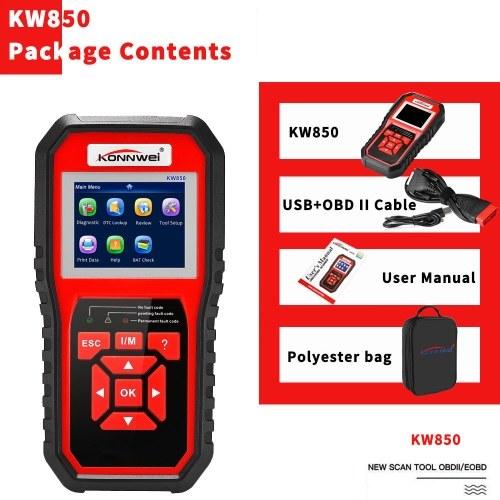 KONNWEI OBDII Scanner Code Reader (KW850) Professional OBDII Anto Scanner Car Diagnostic Check Engine Light Scan Tool for All OBDII Cars Since1996