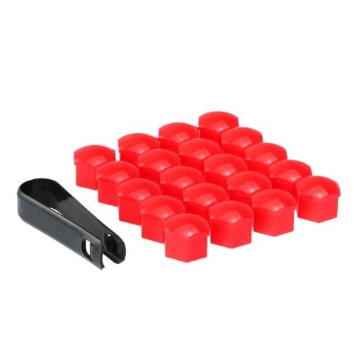 20pcs Universal 19mm Cubiertas de tuerca de rueda Tapas de tuerca de seguridad Protector de tornillo