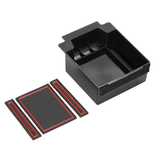 Car Center Console Органайзер Контейнеры Anti-Slip Mat Держатель Ящика Для Хранения Box для Сиденья Ateca 2017-2019