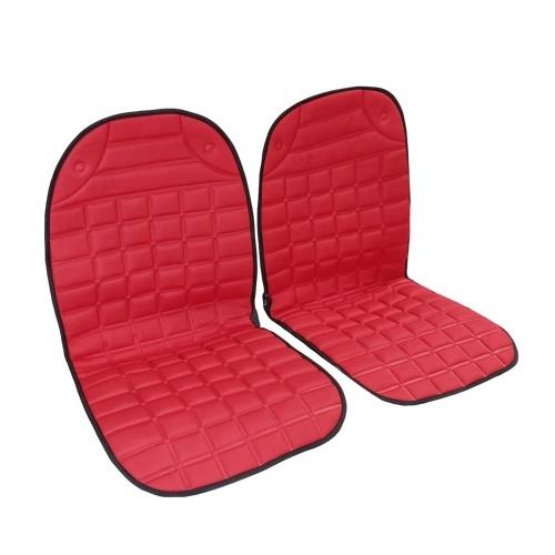 Almohadilla de cubierta de calefacción del asiento delantero del coche 2pcs 12V con calentador de invierno inteligente con controlador de temperatura