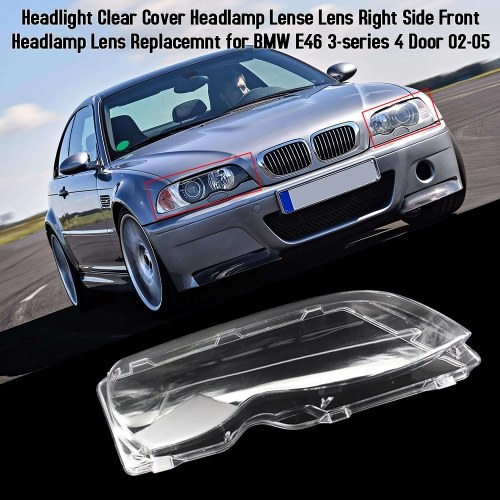2x Car Side Signal Corner Light PC Shell Amber Lens For BMW 3 SERIES E46 330Xi