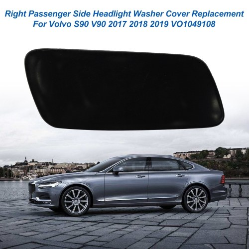 Left Passenger Side Headlight Washer Cover Replacement For Volvo S90 V90 2017 2018 2019 VO1049108