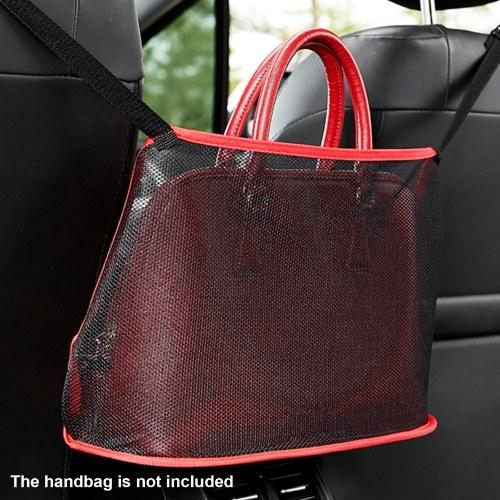 Organizador de malla para coche entre los asientos, soporte para bolso con bolsillo de red para coche, para bolso de tejido, bolsa de red para el respaldo del asiento, barrera para mascotas y niños