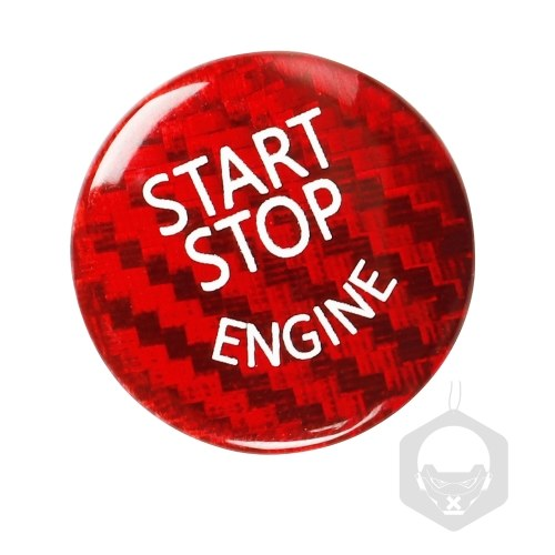 Carbon Fibre Protector Car Engine Start Stop Switch Button Sticker Ignition Sticker Car Interior Decoration Replacement