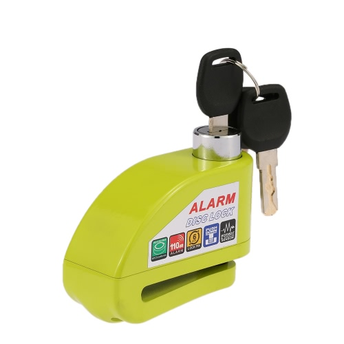 Motorcycle Scooter Bicycle Disc Brake Lock Security Anti-theft Alarm Lock