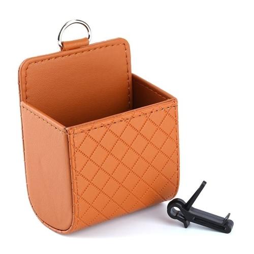 Siège de poche Sac de rangement en caoutchouc Tidy Boîtier Accessoires de voiture Prise d'air multifonction Suspendue Boîte à damier Coffret de coiffeur Pièce d'article Pièce de téléphone