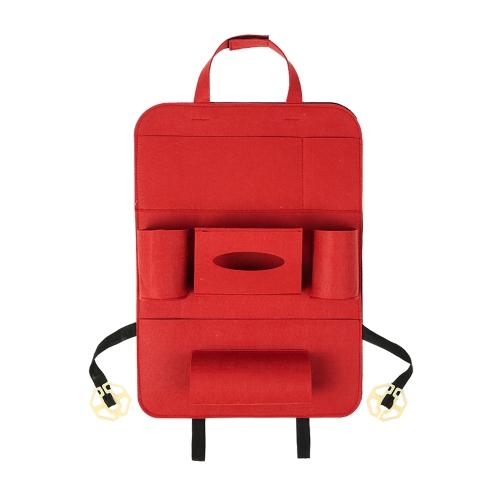 Car Back Seat Organizer Multi-Pocket Bag Fabric Storage Bins