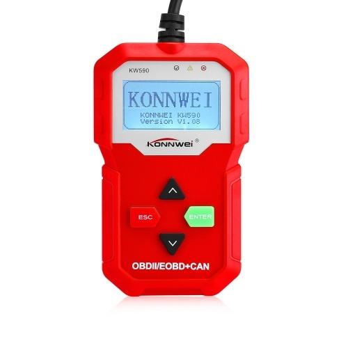 Scanner de détecteur d'instrument de diagnostic de dysfonctionnement d'automobile de KONNWEI KW590 OBDII