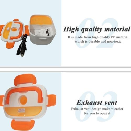 12V Portable Electric Heated Car Plug Heating Lunch Bento Box фото