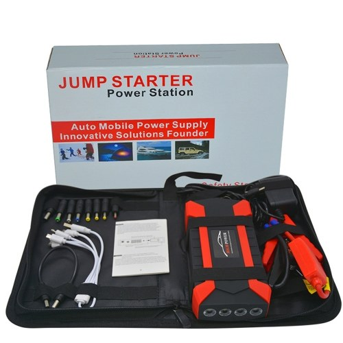 Portable 89800mAh Car Jump Starter Booster Charge Cell 4 USB Charge Pal Lamp