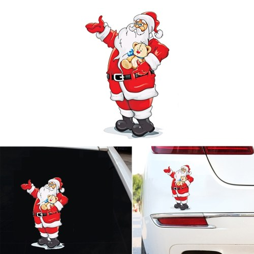Симпатичные наклейки на автомобиль Санта окно стекла наклейка съемные наклейки рождественские украшения