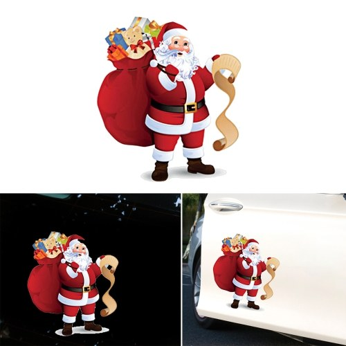 Cute Car Stickers Santa Window Decal Glass Removable Christmas Decoration Stickers